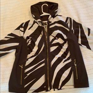 gorgeous Zebra print light elegant hoody jacket